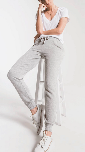 Premium Fleece Jogger- Heather Grey