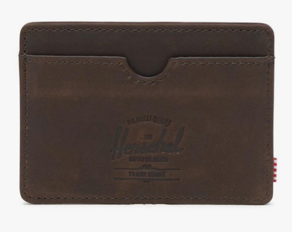 Charlie Cardholder Wallet-Brown Leather