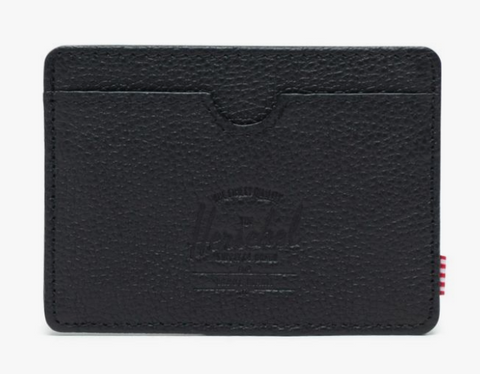 Charlie Cardholder Wallet-Black Leather