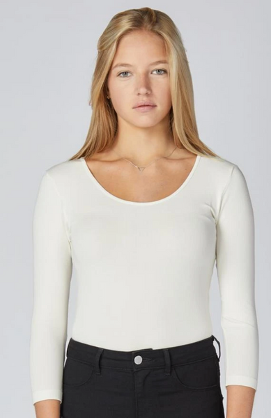 Bamboo 3/4 Sleeve Top-ONE SIZE