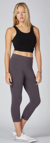 3/4 Length Bamboo Legging- Thin Waistband-ONE SIZE