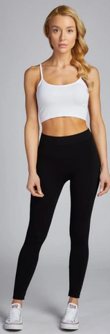 Bamboo Full Length Legging- Regular Rise-THIN WAISTBAND-ONE SIZE