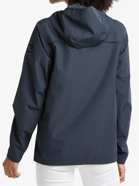 Lole Packable Short Rain Jacket- Navy Blue Anchor