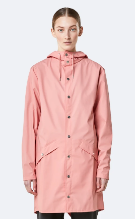 Rains Long Raincoat- Rose