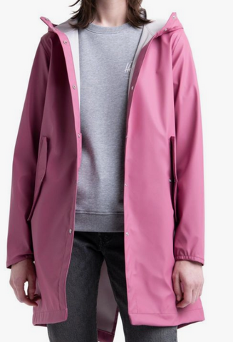 Herschel Fishtail Rain Jacket-Rose