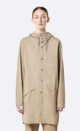 Rains Long Raincoat- Trenchcoat Tan