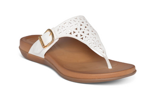 Aetrex - Water Friendly Sandal with Arch Support- White
