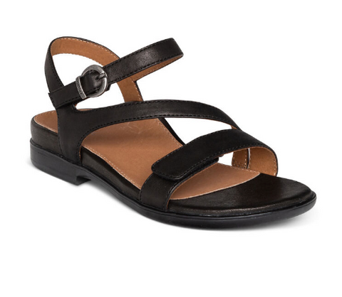 Aetrex- Leather Sandal (Adjustable Straps) with Arch Support