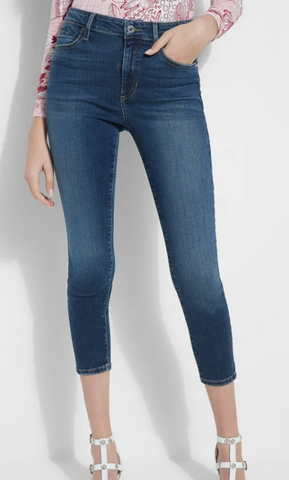 Guess-1981 High Rise Crop Skinny Jean