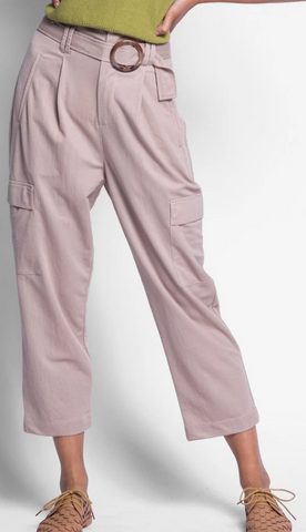 Pink Martini Relaxed Cargo Pant- Tan