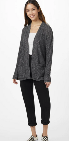 Ten Tree Organic Cotton Cardigan- Charcoal