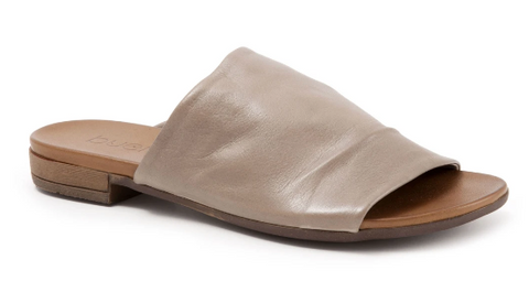 Bueno Leather Slide-Genuine Leather- Grey