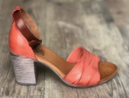 Miz Mooz Leather Sandal- Coral