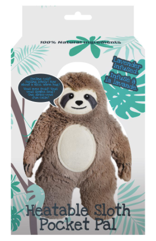 Sloth Pocket Pal Hot/Cold  Pad- Lavender Infused
