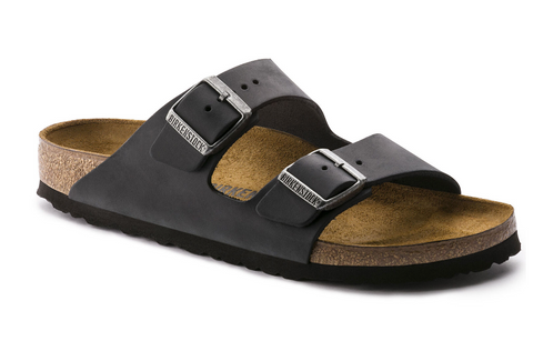 Birkenstock Arizona - Leather Sandal- Black