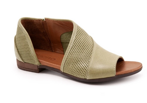 TAHITI OPEN TOE FLAT-LEATHER SHOE