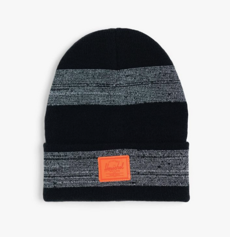 Herschel Elmer Beanie- Knit Hat with REFLECTIVE STRIPE- PHAN/B/TOR