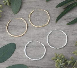 Classic Hoop Earring- Gold or Silver Plated