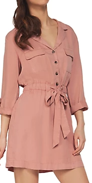 Dex Tunic Dress- Blush