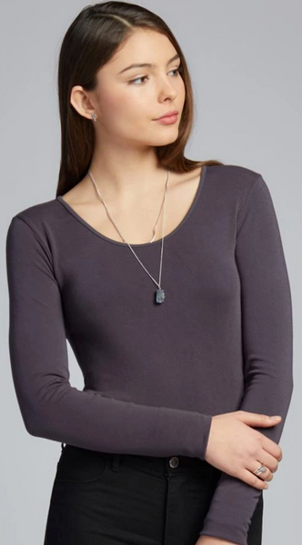 Bamboo Long Sleeve Scoop Neck Top-ONE Size