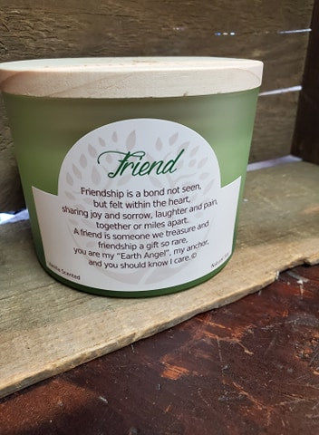 "Earth Angels ""Friend Vanilla 2-Wick Candle"""