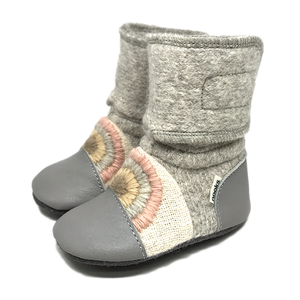 Nooks Rainbow Moon Wool Booties