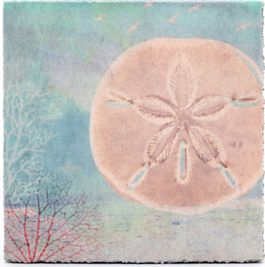 Lost & Found Art Block - Sand Dollar