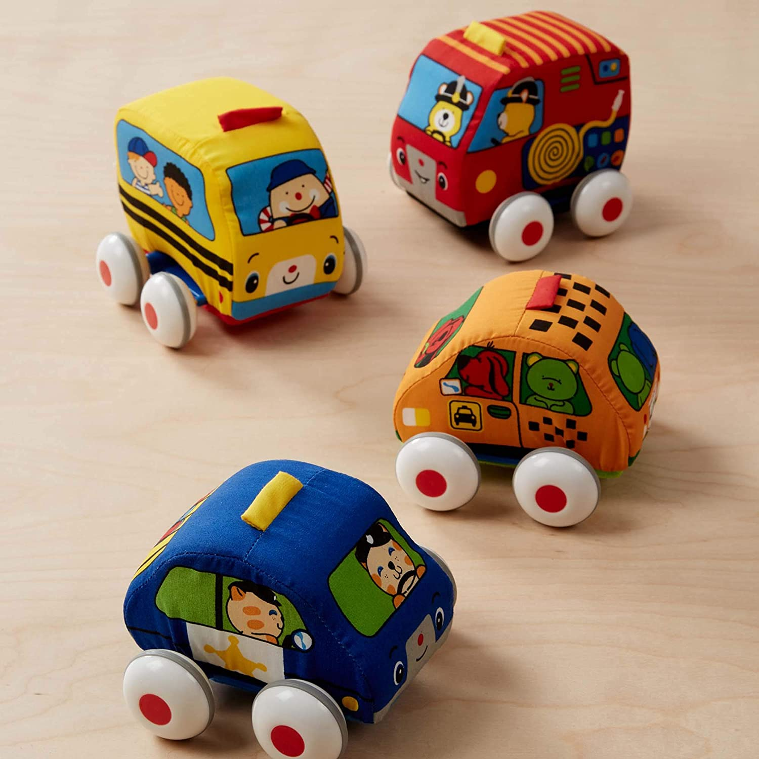 Melissa & Doug- Pull-back Town Vehicles