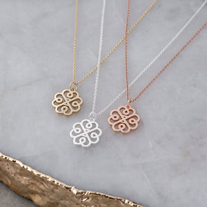 GLEE- Glee Hearts and Flower  Silver, Gold or Rose Gold,  Necklace