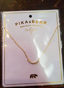 Pika & Bear- ELORA Crescent Pave Necklace