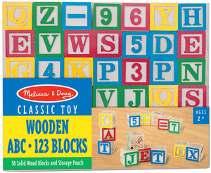 Melissa & Doug Wooden ABC & 123 Blocks