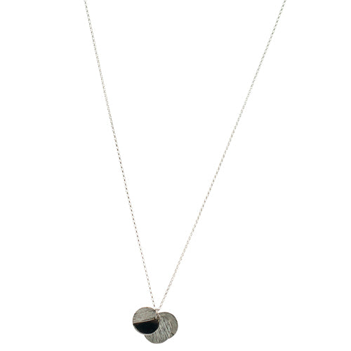 Mimi + Marge Zoey Triple Circle Sterling Silver Necklace