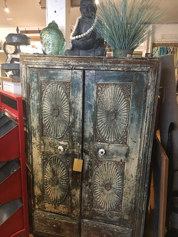 Distressed Antique Wooden Cabinet