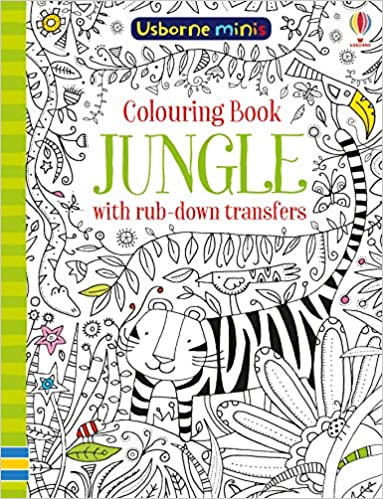 Colouring Book Jungle With Rub-Down Transfers