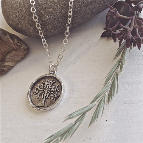 Pika & Bear- OLD GROWTH Tree Of Life Talisman Necklace