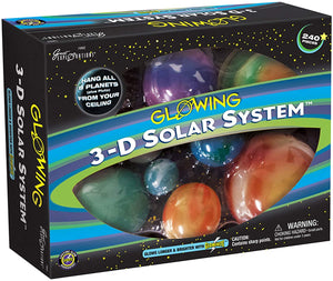 3D Glowing Solar System