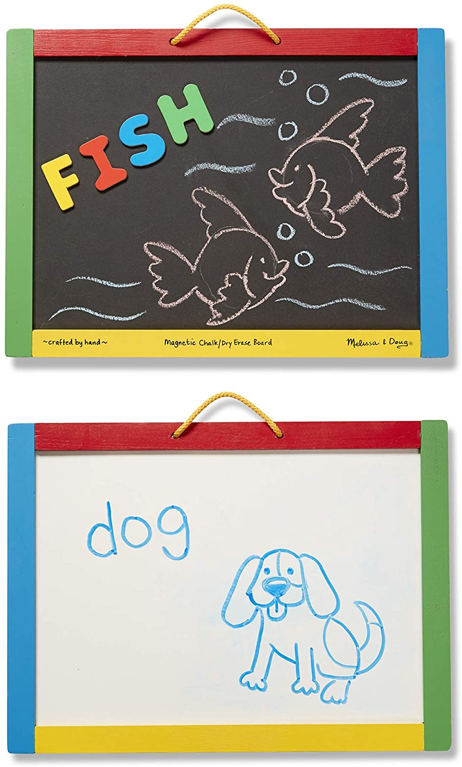 Melissa & Doug Chunky Magnetic Chalkboard and Dry-Erase Board