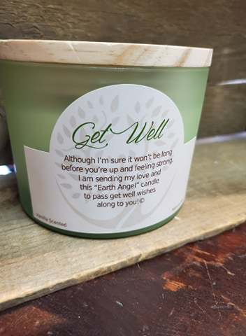 "Earth Angels ""Get Well  Vanilla 2-Wick Candle"""