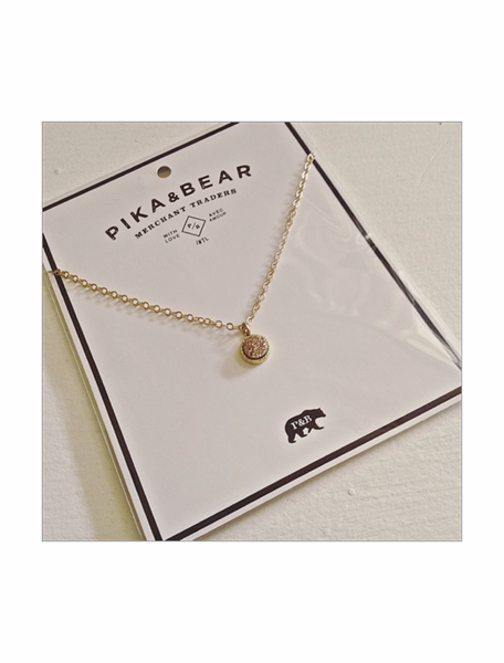 Pika & Bear- TENERIFE Druzy Necklace
