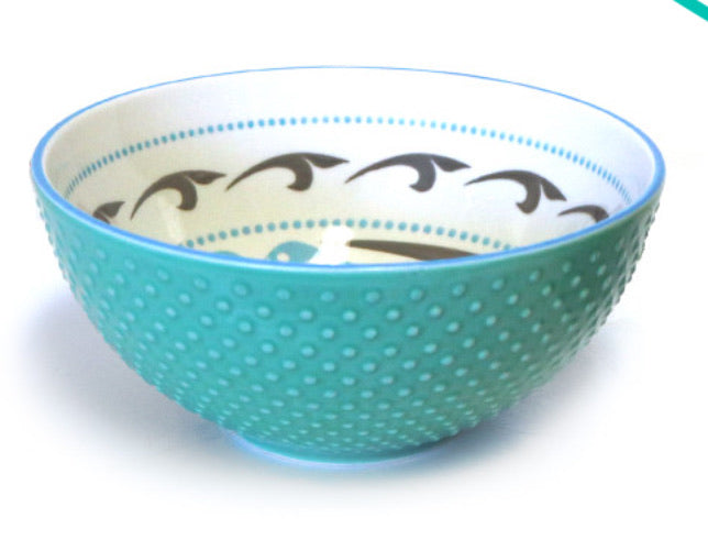 Killer Whale Porcelain Art Bowl