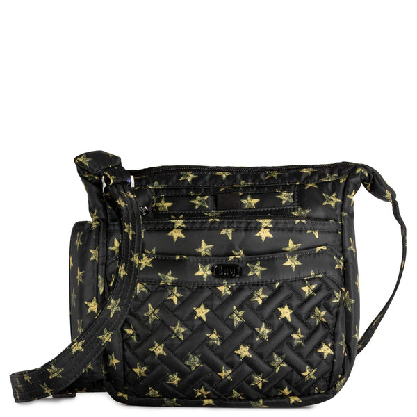 LUG- Flutter Rockstar Black Mini Shoulder Crossbody Bag