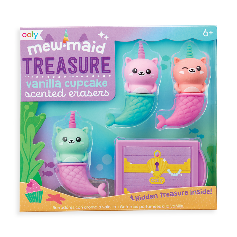 OOLY-MewMaid Treasure Scented Erasers