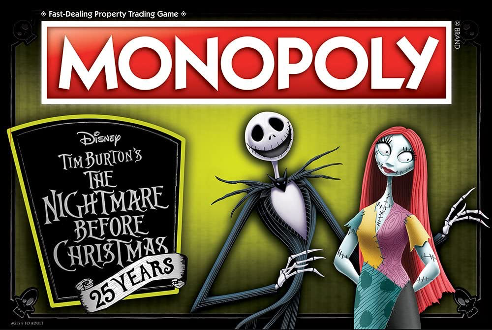 The Nightmare Before Christmas Monopoly- 25th Anniversary