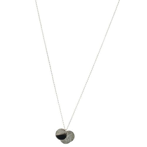 Mimi + Marge Zoey Sterling Silver Triple Round Necklace