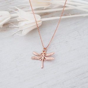 GLEE-Damsefly Rose Gold Necklace