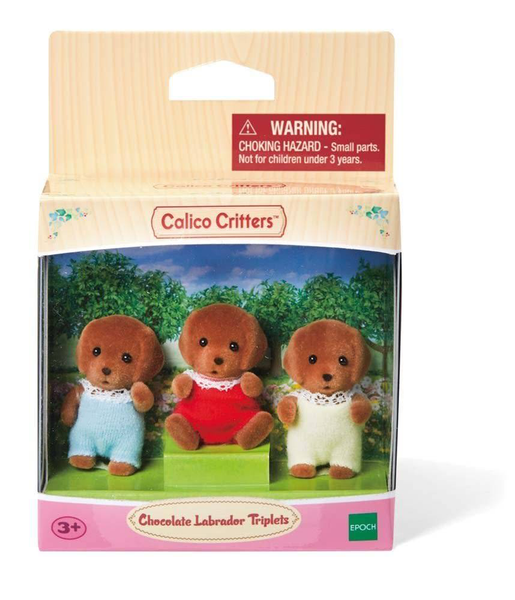 Calico Critters - Chocolate Lab Triplets