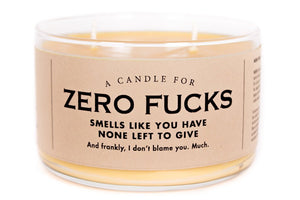 A Double Wick Candle For ZERO FUCKS