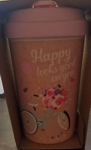 "CHIC BAMBOO CUP ""Happy Looks Good"""