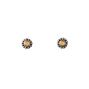 Mimi + Marge Micro Faceted Citrine Stud Earrings