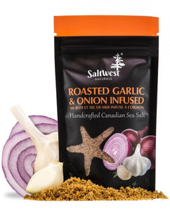 Roasted Garlic & Onion Infused - Handcrafted Canadian Sea Salt